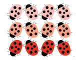 Red Ladybug Family Posters by Avalisa