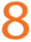 Orange Eight Poster par  Avalisa