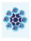 Blue Wreath Poster by Avalisa 