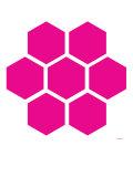 Pink Honeycomb Poster par  Avalisa