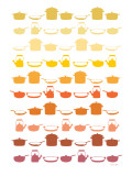 Orange Pots and Pans Poster von  Avalisa