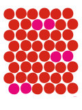 Red Pink Dots Prints by  Avalisa