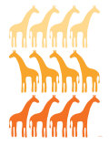 Orange Giraffe Family Posters by  Avalisa