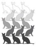 Chats noirs Affiche par  Avalisa