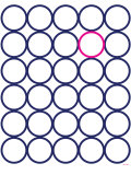 Navy Pink Circles Poster von Avalisa 