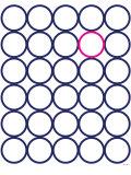 Navy Pink Circles Poster von  Avalisa