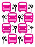 Pink Bus Stop Affiche par  Avalisa