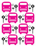 Pink Bus Stop Print by  Avalisa