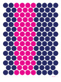 Blue Pink Dots Affiche par  Avalisa