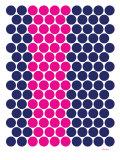 Blue Pink Dots Poster von  Avalisa