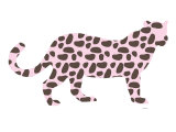 Pink Jaguar Print by  Avalisa