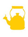 Yellow Tea Kettle Kunstdruck von  Avalisa