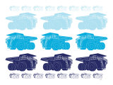 Blue Dump Trucks Posters by  Avalisa