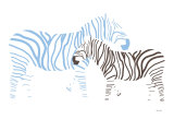 Blue Zebra Art by  Avalisa