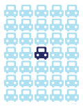 Blue Parking Lot Posters par Avalisa