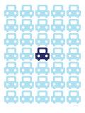 Blue Parking Lot Plakater av  Avalisa