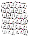 Warm Penguin Pattern Poster by  Avalisa
