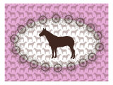 Pink Horse Belt Buckle Posters by  Avalisa