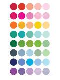 Rainbow Dots Premium Giclee-trykk av  Avalisa