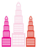 Pink Sky Scrapers Print by  Avalisa