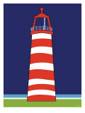 Red Lighthouse Print by  Avalisa