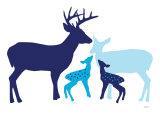 Blue Deer Premium Giclee-trykk av  Avalisa