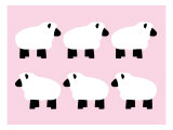 Pink Sheep Family Reproduction giclée Premium par  Avalisa