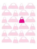 Pink Handbags Posters par  Avalisa