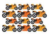 Orange Ducati Posters par  Avalisa
