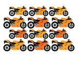 Orange Ducati Art by Avalisa 