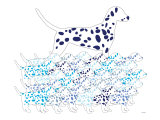 Blue Dalmation Pattern Posters by  Avalisa