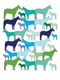 Cool Horse Pattern Poster by  Avalisa