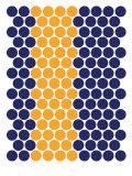 Blue Orange Dots Poster par  Avalisa