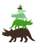 Green Tritop Poster di Avalisa,