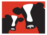 Red Cows Posters by Avalisa
