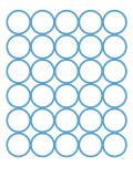 Blue Circles Reproduction giclée Premium par  Avalisa