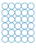 Blue Circles Poster von  Avalisa