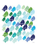 Cool Fleet Print by  Avalisa