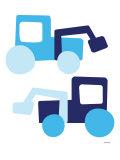 Blue Tractors Kunstdruck von  Avalisa