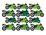 Green Ducati Print by  Avalisa