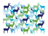 Cool Deer Pattern Posters par  Avalisa