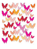 Warm Butterfly Pattern Poster by  Avalisa