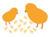 Orange Chicks Affiche par  Avalisa