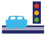 Blue Stop Light Posters by  Avalisa