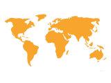 Orange Affiche par  Avalisa