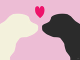 Pink Puppy Love Print van Avalisa