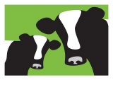 Green Cows Posters by  Avalisa