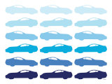 Blue Sportscar Posters par  Avalisa