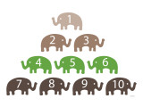 Green Counting Elephants Posters by Avalisa