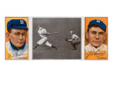 Brooklyn, NY, Brooklyn Dodgers, William Dahlen, Zach D. Wheat, Baseball Card Poster by  Lantern Press